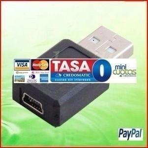 Imagen 1 de 1 de Usb Convertidor Macho A Mini Usb B 5 Pin Mujer Pc Conector