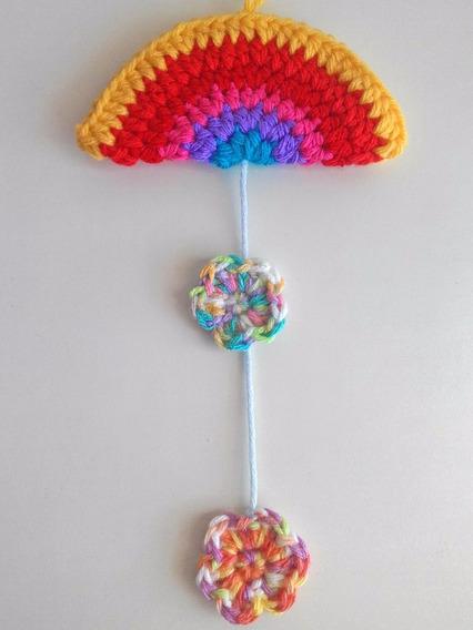 Arcoiris Flor Corazón Souvenir Crochet Nacimiento Babyshower