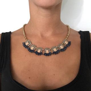 Collar Piedras Cadena Oro
