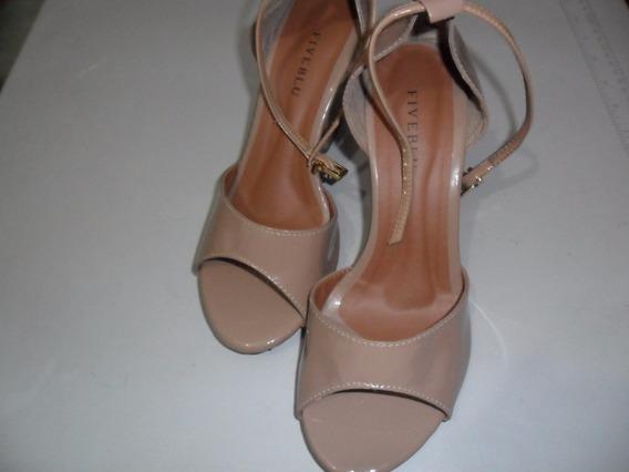 Sandalia De Salto Feminino Verniz Nude 37 Sku Df35
