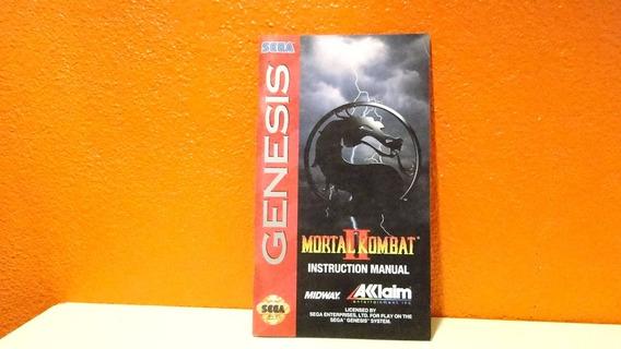 Manual Original- Mortal Kombat 2- Sega Genesis