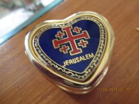 Porta-comprimidos Camafeu Jerusalém Dourado(novo)