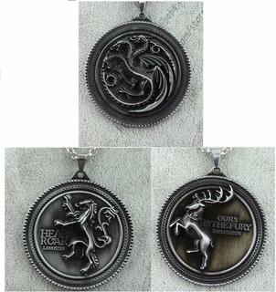 3 Chaveiro Game Of Thrones Frete Grátis