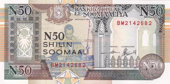 Somalia 1991 Billete De 50 Shilling Pick Nº R 2 Sin Circular