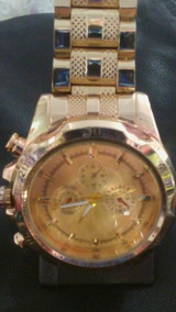 Relógio De Pulso Dourado