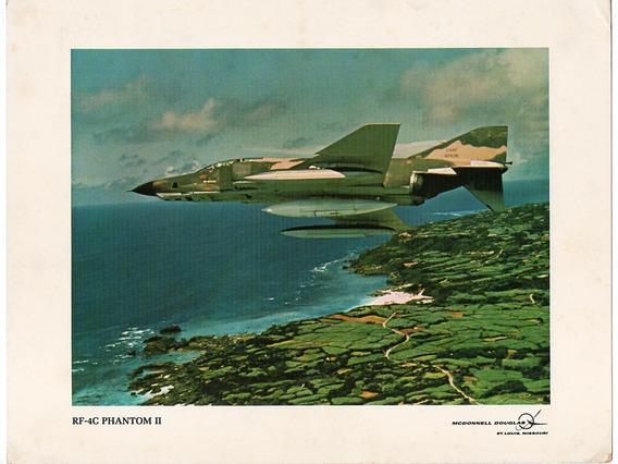 Folder Propaganda Antiga Avião Rf-4c Phantom Ii Mcdouglas