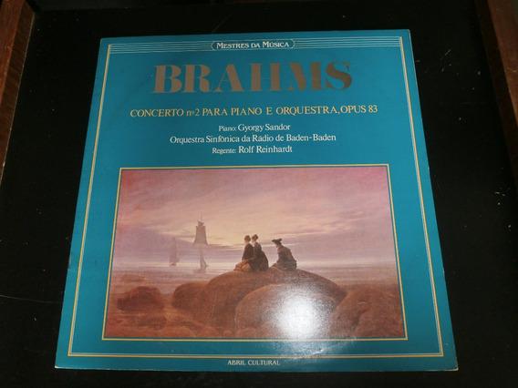 Lp Mestres Da Música - Brahms, Vinil C/ Encarte, Ano 1983