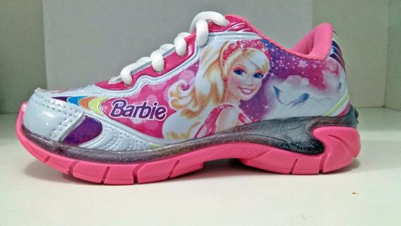 Tenis Barbie, Com Luz, Branco/rosa,
