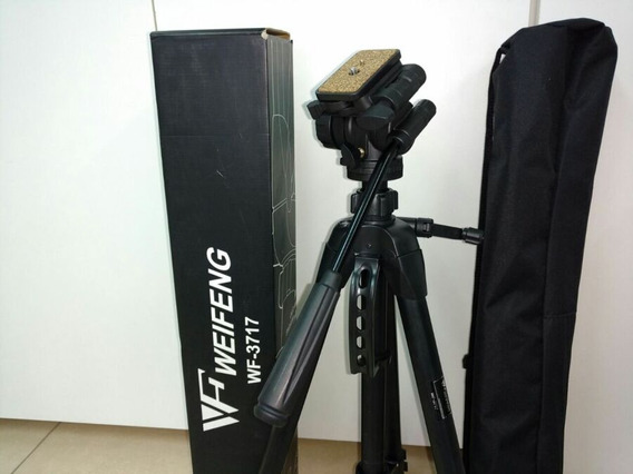 Tripé Weifeng Wf-3717 Profissional 1,70 Metro Canon Nikon