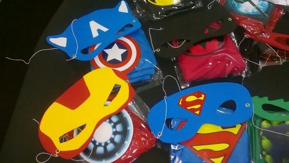 40 Capas Y Antifaz Superheroes