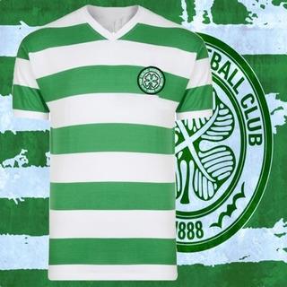 Camisa Retrô Celtic Gola V Tradicional Glasgow- Esc