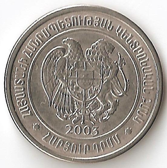 Armenia, 100 Dram, 2003. Sin Circular