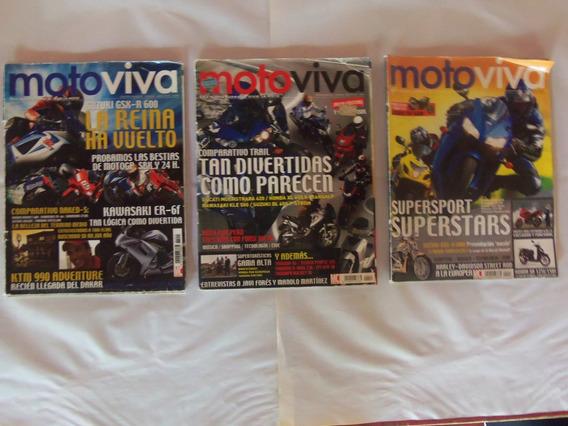 3 Revistas Moto Viva Da Espanha , Em Ótimo Estado