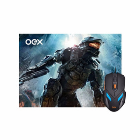 Combo Gamer Mouse 7 Cores E Mousepad Oex Mc100 2400dpi