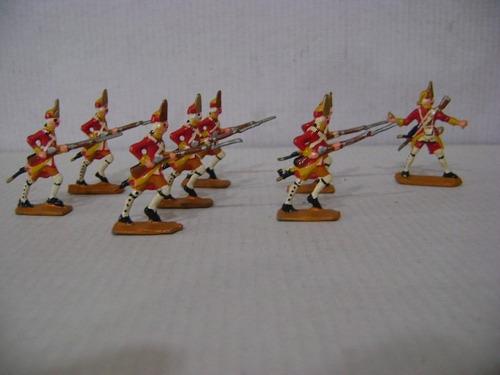 Imagen 1 de 6 de Nico 8 Fusileros En Combate Soldados De Plomo (pmv 39)