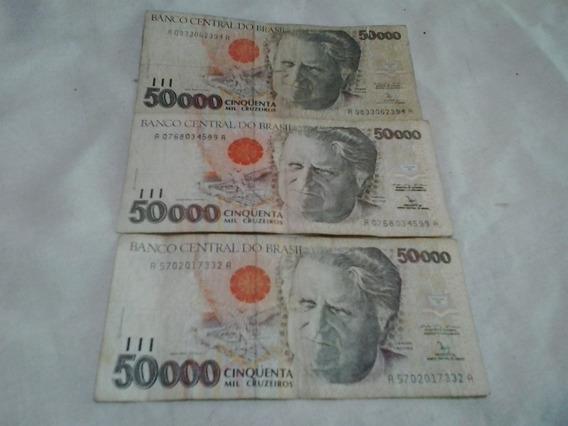 Cédula Antiga De 50.000 Cruzeiros - Notas Antigas - Cedulas