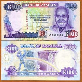 Zâmbia 100 Kwacha 1991 P. 34 Fe Cédula - Tchequito