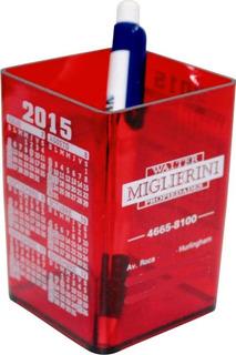 100 Cubos Portalapiz De Color Personalizados Con Calendario Y Publicidad A Un Color
