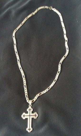 Cordão De Prata 950 70cm 40g E Crucifixo Prata 925