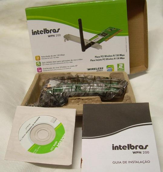 Placa De Rede Pci Wireless Vpn 200 Intelbras 150mb