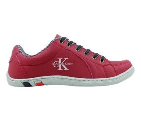 Sapatênis Calvin Klein Azul Marinho,branco,vermelho