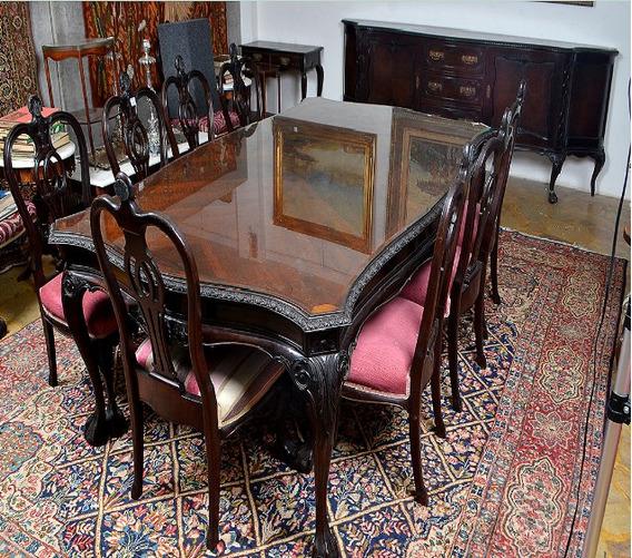 Conj.mesa Jacarandá 12 Cadeiras Buffet D.joão V- Perfeitos!!