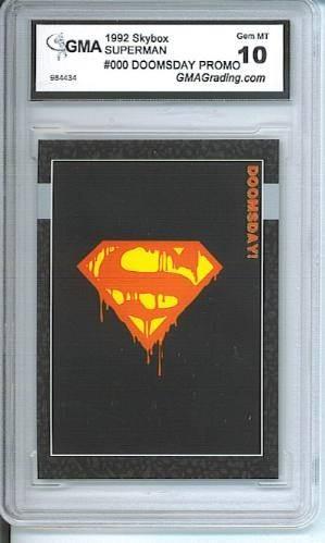 The Death Of Superman Promo Card 000 Calificación Gma 10