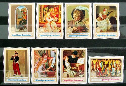 Rwanda, Arte Serie Sc. 281-6 C6-7 Pinturas 69 Mint L6319