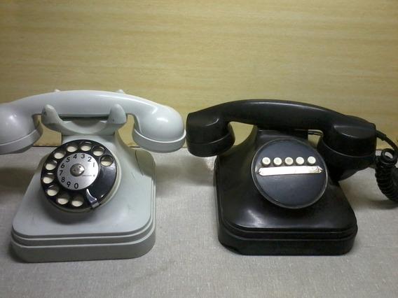 Antigos Telefones Baquelite P/ Restauro Ou Peças