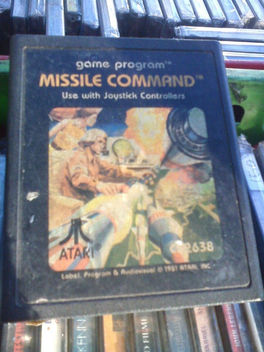 Juego-atari-missile Comand-cartucho-game