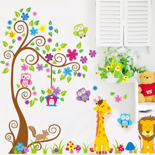 Vinilos Adhesivos Decorativo Animales De La Selva Jm7251ab