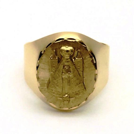 Anel Nossa Senhora Aparecida Ouro 18k Teor 750 12x Sem Juros