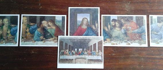 6 Postales La Última Cena - Leonardo Da Vinci - Años 50