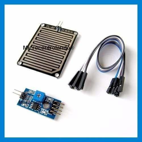 Sensor De Chuva + Cabos Pingos Gotas Água Arduino