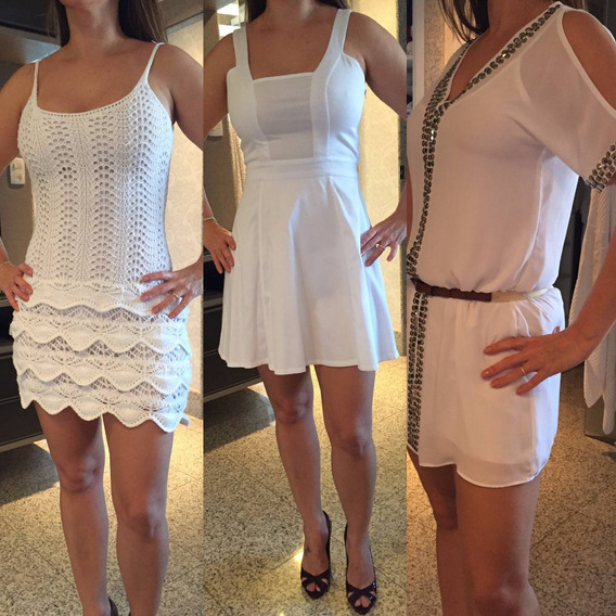 Kit 3 Vestidos Brancos Tamanho 30