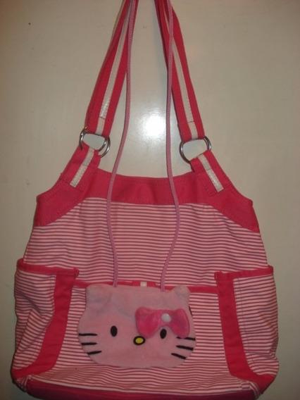 Bolsa Da Hello Kitty Em Tecido