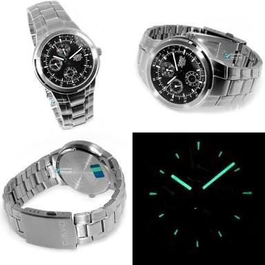 Relógio Casio Edifice Ef-305 Analógico Com Calendário Wr100m