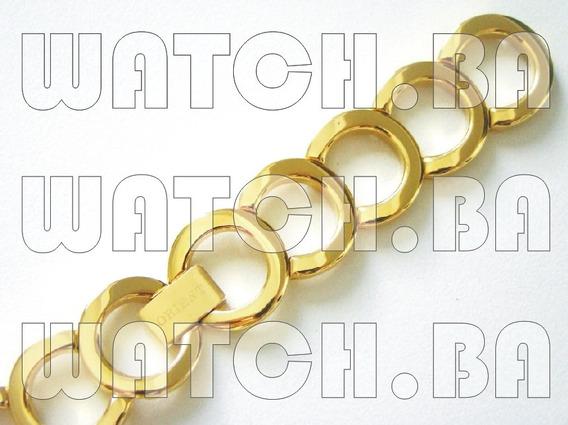 Pulseira Dourada Orient Fgss0011 - Nova, Original!