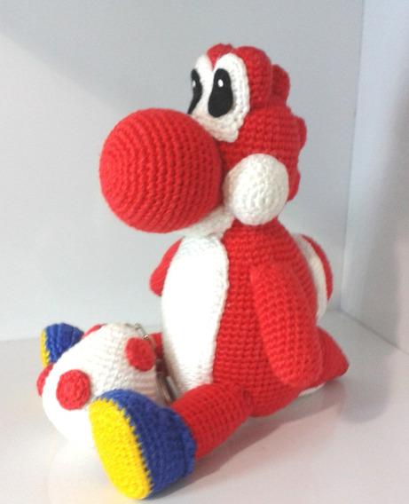 Boneco (amigurumi) Yoshi De Croche Vermelho + Blinde