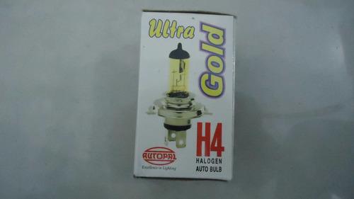 Bombillo Halogeno H4 P43t Gold 12v 100w P43-100-ga