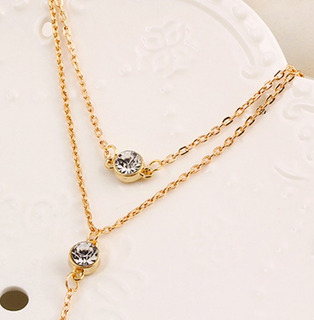 Collar Layer Capas Cristal Amor Corazon Infarto Fashion Moda
