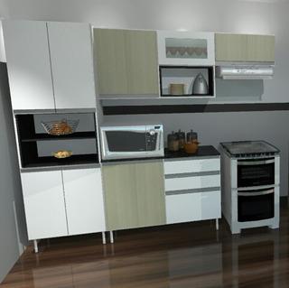 Móveis Kaleby Cozinha Sevilha 100% Mdf Duratex