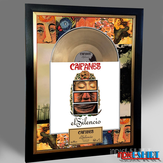 Cuadro Decorativo Caifanes Bunbury Soda Stereo Disco Oro Lp