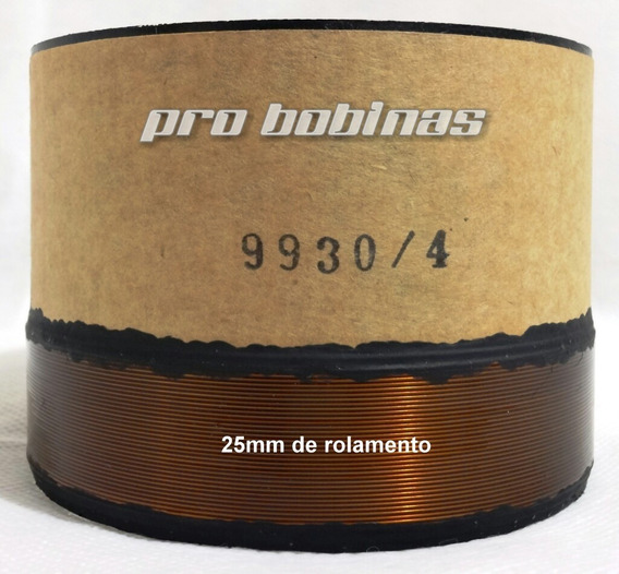 Bobina Para Alto Falante 99.30/4/70 - 25mm Rolamento