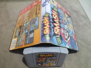 Super Smash Bros Original Nacional N64 Com Caixa Locadora