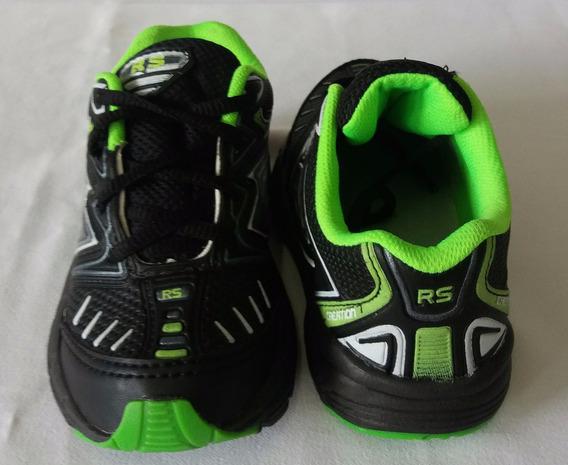 Tenis Rs Infantil Rosa/preto E Preto/verde Super Leve Confor