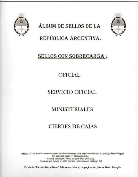 Album Especializado De Argentina Carpe Diem Oficiales, Etc.