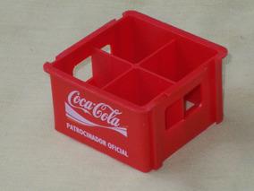 Antigo Engradado Coca-cola Miniatura Atenas 2004 4 Garrafas