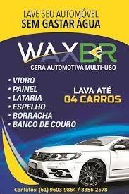 Cera Automotiva Wax Br Lavagem E Polimento A Seco