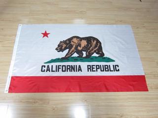 Bandeira Da California 1,50 X 0,90cm Poliéster X88